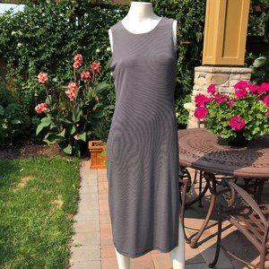 Banana Republic Stripped slvless Dress Blk+Wht S